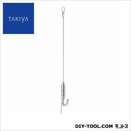 ピクチャーレール軽量用吊金具コレダーラインミニハンガーセットA シルバー 100×4.7×0.8cm