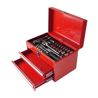【送料無料】TAKAGI 工具 セット 58pcs H300×W275×D410(mm) 工具箱 ツールセット 手動工具セット