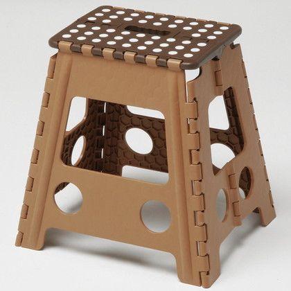 折りたたみ踏み台セノ・ビーのっぽ君39cm ブラウン 使用時:W390×D320×H390 10051