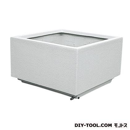 大型FRP (角)(プランター) オフホワイト W1000×D1000×H600 FRK-1002SW  個