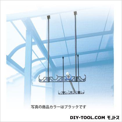 【送料無料】DRY WAVE 吊下げ型固定式物干金物 ブラック 525mm〜970mm×510mm HA50[K] 1組