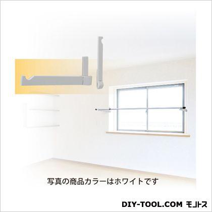 ランドリーフック 窓枠用タイプ(見込みタイプ) ホワイト 最大出幅345.5mm KG30[W] 1 組