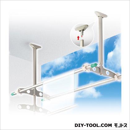 吊下げ型可動式物干金物 標準タイプ ステンカラー 600~900mm×450mm TD6090[ST] 1 組
