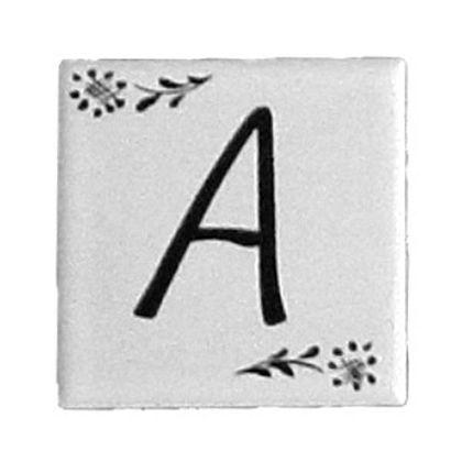 プチ デザインタイル アルファベットタイル A  約47×47×7mm PDT-A
