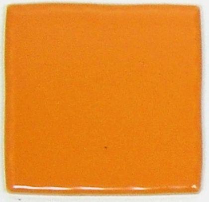 色つき無地 プレイン タイル オレンジ 約97×97×7mm PT-008