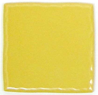 色つき無地プレインタイル マスタード 約97×97×7mm PT-015