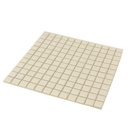 モザイクタイルシート 裏ネット張り ホワイト 22.5角300×300mm 8655100 10 枚
