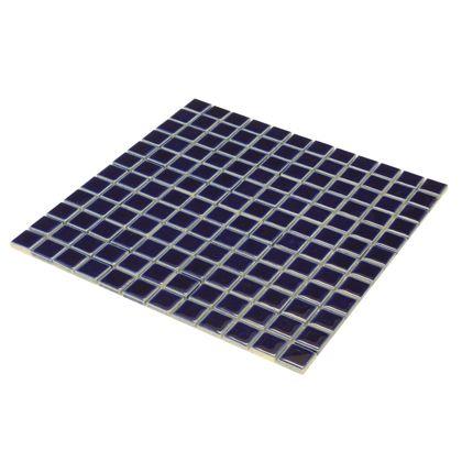 モザイクタイルシート 裏ネット張り コバルトブルー 22.5角300×300mm 8655900 10 枚