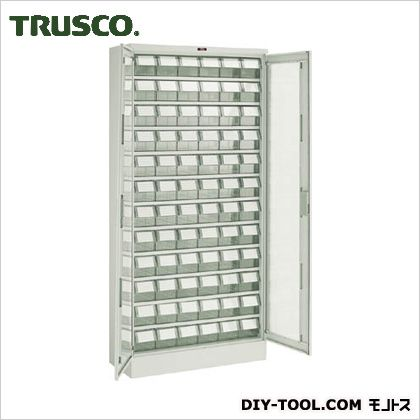 トラスコ(TRUSCO) バンラックケースM型両開き扉透明引出小X72個透明 TM T611M-N72S