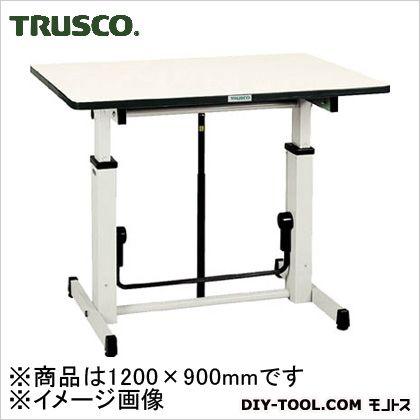 トラスコ(TRUSCO) アップダウン作業台1200X900XH730-980 UP-1200 1S