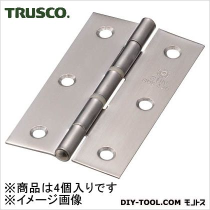 ステンレス製中厚蝶番ナイロンリング入全長76mm(4個入)   ST-999NR-76HL 4 個