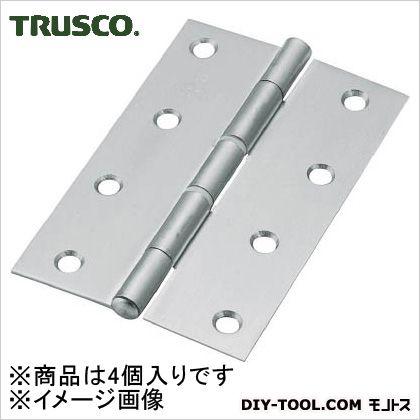 ステンレス製中厚蝶番ナイロンリング入全長102mm(4個入)   ST-999NR-102HL 4 個