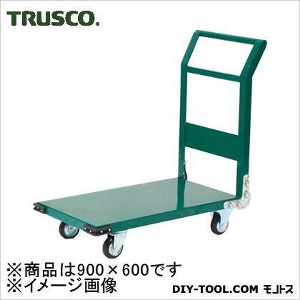 鋼鉄製運搬車900X600Φ150プレス車緑 GN  SH-2N