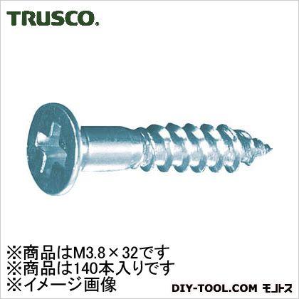トラスコ(TRUSCO) 皿木ねじユニクロムM3.8X32140本入 137 x 68 x 31 mm 140本