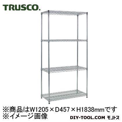 【送料無料】トラスコ(TRUSCO) スチール製メッシュラックW1205XD457XH18384段 TME6444