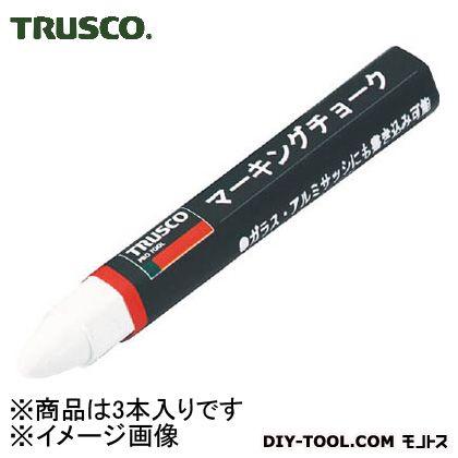 トラスコ(TRUSCO) マーキングチョーク白 W TMC-19 3本