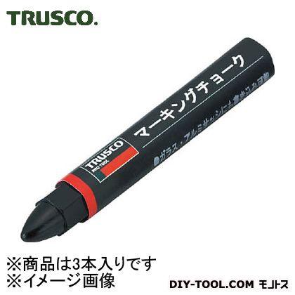 トラスコ(TRUSCO) マーキングチョーク黒 BK TMC-19 3本