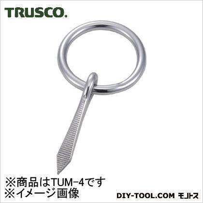 トラスコ(TRUSCO) 打ち込み丸カンステンレス製4mm(1個=1袋) 90 x 44 x 11 mm TUM-4 1個