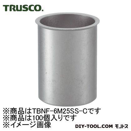 【送料無料】トラスコ(TRUSCO) クリンプナット薄頭ステンレス板厚2.5M6X1(100個入) 165 x 98 x 57 mm TBNF-6M25SS-C 100個