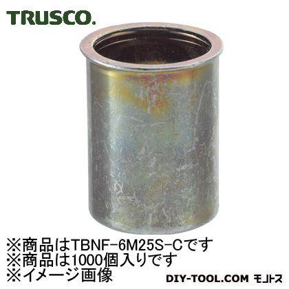 【送料無料】トラスコ(TRUSCO) クリンプナット薄頭スチール板厚2.5M6X1.01000個入 246 x 165 x 80 mm TBNF-6M25S-C 1000個