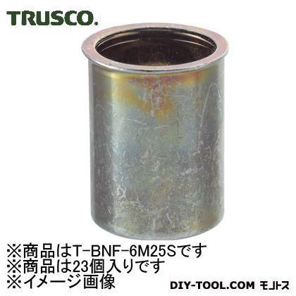 クリンプナット薄頭スチール板厚2.5M6X1.0(23個入)   T-BNF-6M25S 23 個