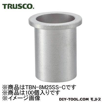 【送料無料】トラスコ(TRUSCO) クリンプナット平頭ステンレス板厚2.5M8X1.25100入 173 x 96 x 56 mm TBN-8M25SS-C 100個