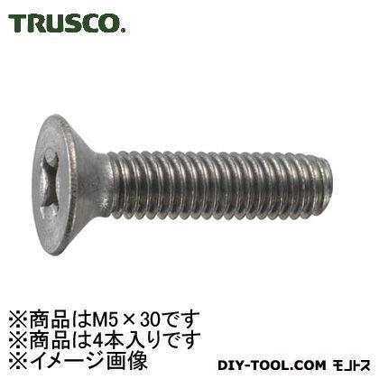 トラスコ(TRUSCO) 皿頭小ネジチタンサイズM5X304本入 108 x 60 x 15 mm TB92-0530 4本