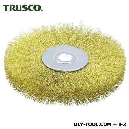トラスコ(TRUSCO) ホイルブラシ100X10mm穴真鍮線線径0.15 113 x 112 x 22 mm TB-6354