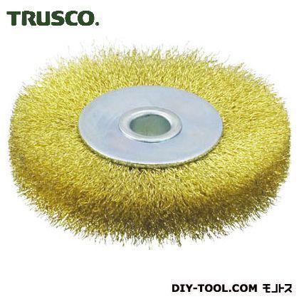 トラスコ(TRUSCO) ホイルブラシ75X10mm穴真鍮線線径0.15 95 x 95 x 41 mm TB-6344