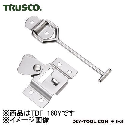 トラスコ(TRUSCO) 車体ドア留め金具横型・ステンレス製167mm1組(袋)=1個 TDF-160Y 1個