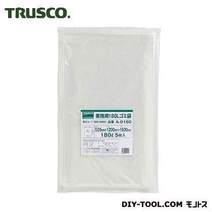 TRUSCO 業務用ポリ袋厚み0.05X180L(5枚入) A-0180 5枚
