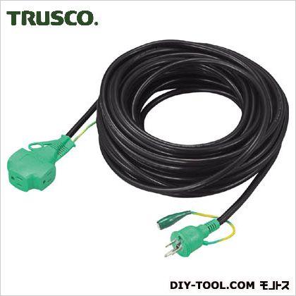 【送料無料】トラスコ(TRUSCO) トリプルポッキン延長コード極太ソフト電線黒 BK 266 x 258 x 73 mm TTP20E