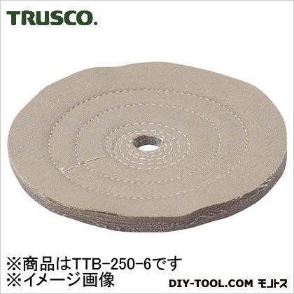 トラスコ(TRUSCO) 茶カツ仕上げバフ外径Φ250X穴径19.05mm1個入 TTB-250-6 1個