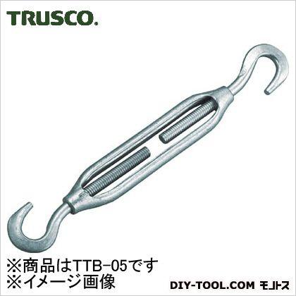 トラスコ(TRUSCO) 枠式ターンバックルフック&フックタイプねじ径3/8 228 x 34 x 17 mm