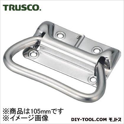 トラスコ(TRUSCO) スプリング付トランク取手ステンレス製105mm 125 x 76 x 28 mm