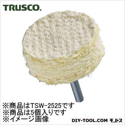 トラスコ(TRUSCO) サイザル軸付ホイールΦ25X25X6mm(5個入) TSW-2525 5個
