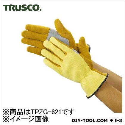 トラスコ(TRUSCO) ザイロン耐切創手袋平当て部補強タイプLサイズ TPZG-621