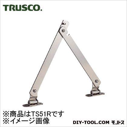 スチール製止付き平棒ステー全長450mm右用   TS-51-R