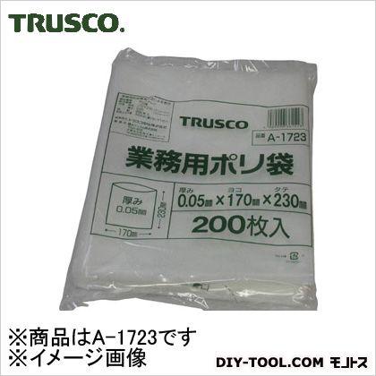 トラスコ(TRUSCO) 小型ポリ袋縦230X横170Xt0.05200枚入透明 A-1723 200枚