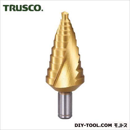 トラスコ(TRUSCO) ステップドリル2枚刃チタンコーティング6~27mm段数11 TSDSC27