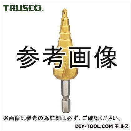 トラスコ(TRUSCO) 六角軸ステップドリル2枚刃チタンコーティング4~12mm TSDSC12