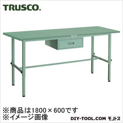 トラスコ(TRUSCO) SAEM型高さ調節作業台1800X6001段引出付 SAEM-1860F1