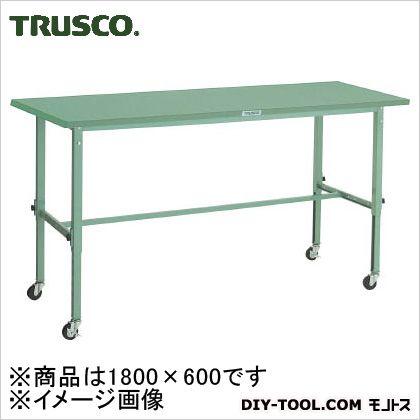 トラスコ(TRUSCO) SAEM型高さ調節作業台1800X600φ75キャスター付 SAEM-1860C75