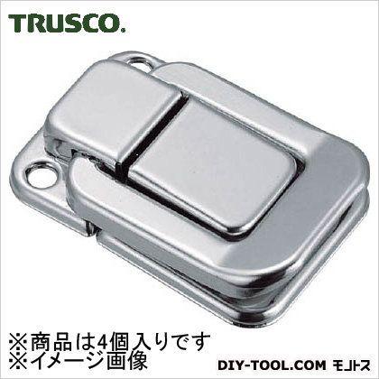 トラスコ(TRUSCO) パッチン錠横ズレ防止タイプ・スチール製(4個入) P-45 4個