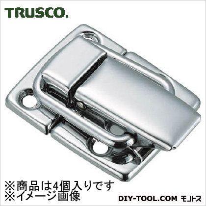トラスコ(TRUSCO) パッチン錠横ズレ防止タイプ・スチール製(4個入) P-39 4個