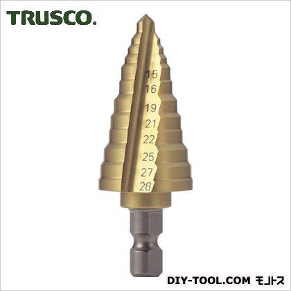 【送料無料】トラスコ(TRUSCO) 電気設備用ステップドリル2枚刃チタンコーティング15〜28mm 160 x 65 x 33 mm NMS-28EG 1
