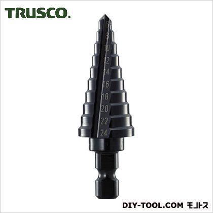 【送料無料】トラスコ(TRUSCO) ステップドリル2枚刃黒染め表面処理6〜24mm段数10 159 x 66 x 32 mm NMS-24 1