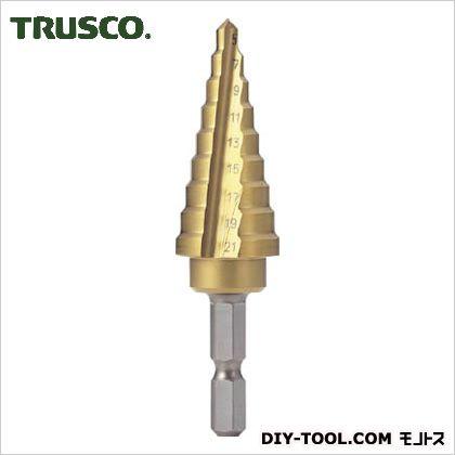 【送料無料】トラスコ(TRUSCO) 六角軸電気設備用ステップドリル2枚刃チタンコーティング21mm 170 x 68 x 29 mm NMS-21EG-H 1