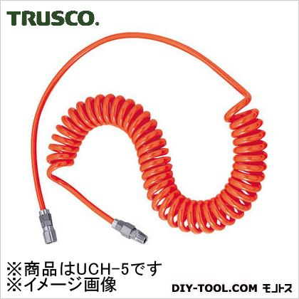 トラスコ(TRUSCO) ウレタンコイルホース4.0mネオグレー 232 x 202 x 50 mm UCH-5NG