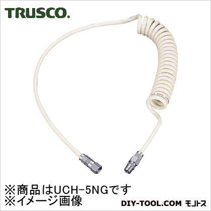 トラスコ(TRUSCO) ウレタンコイルホース4.0mオレンジ 296 x 199 x 43 mm UCH-5